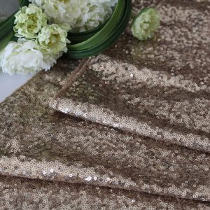 Sequin Table Runner – Champagne