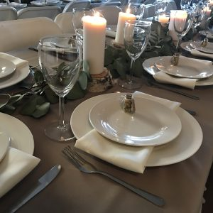 White Dinner plates with matching Dessert plates