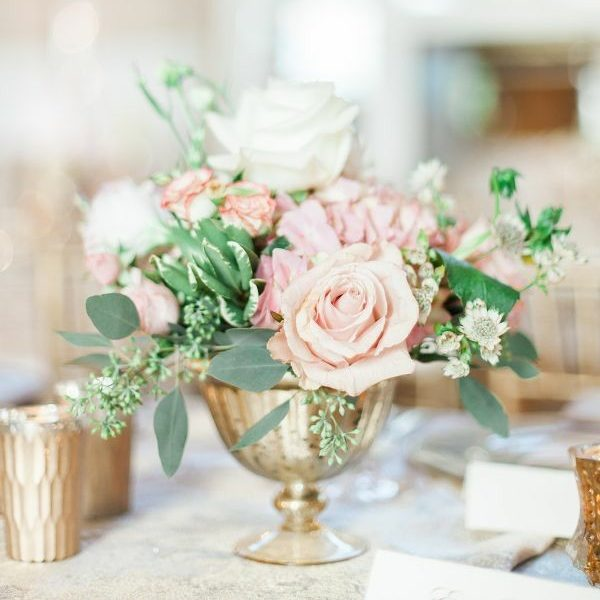 Gold Pedestal Vase Rental