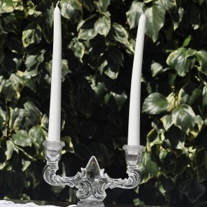 032 - Crystal Double Candle Holder