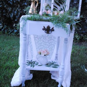 038 - White End Table