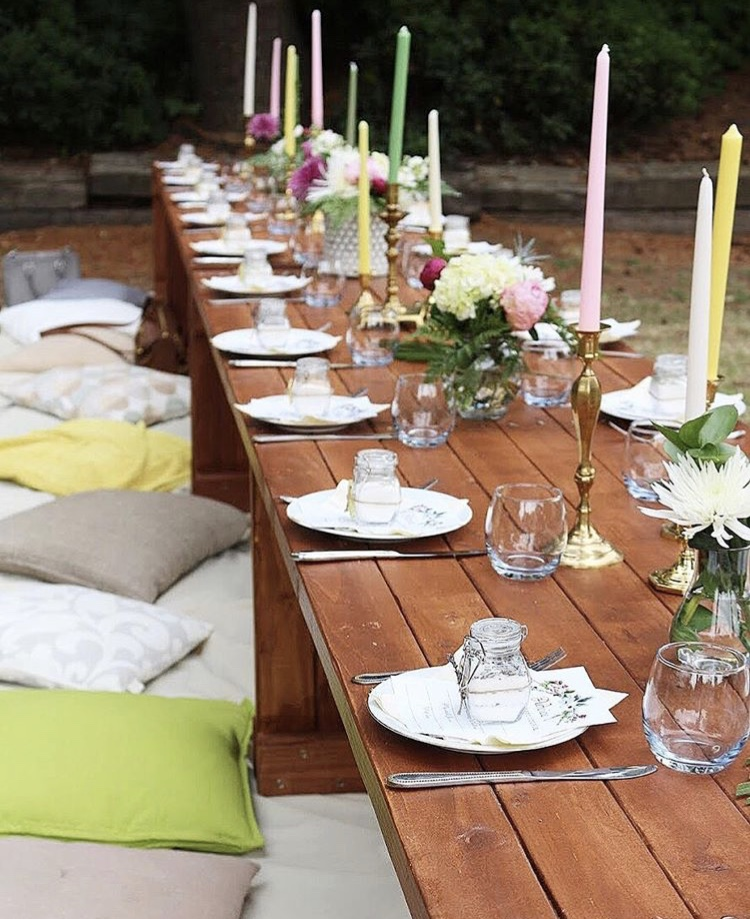 Chic Bohemian Party Low Tables For A Romantic Dinner