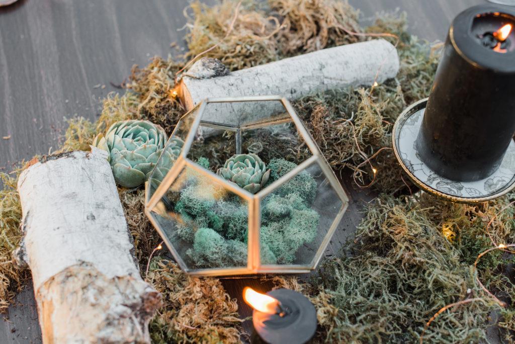 Gold Glass Geometric Terrarium Sacramento Rentals For The