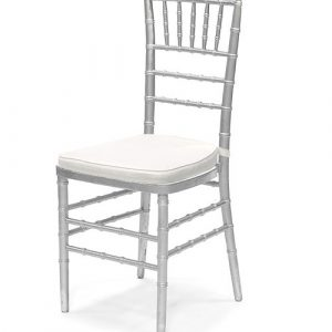 silver chiavari chair rental