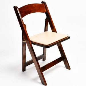 Cherry folding chair