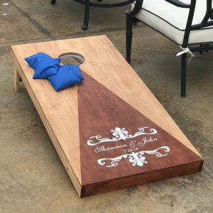 cornhole board yard game rental