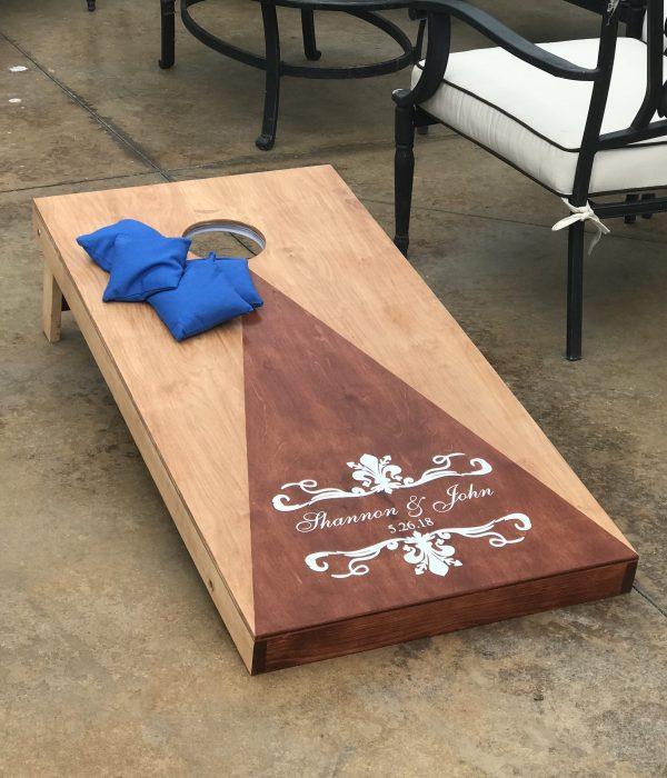 cornhole board yard game rental