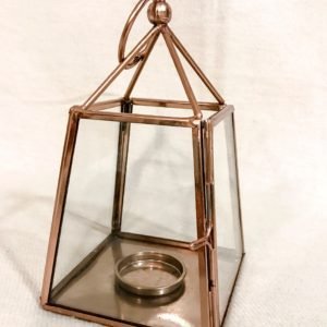 rose gold geo lantern
