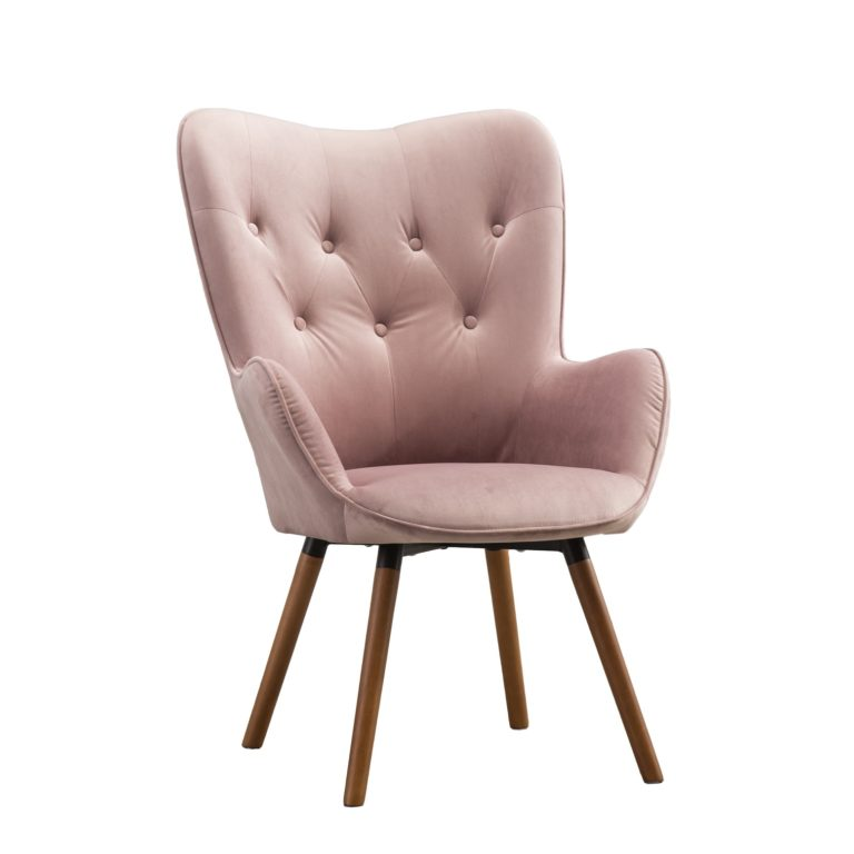 Blush Velvet Chair Rental