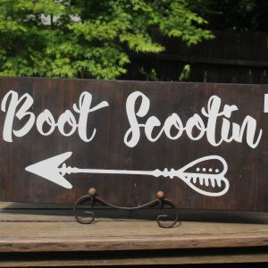 Boot Scootin' Dance Floor Sign Wedding sign rental