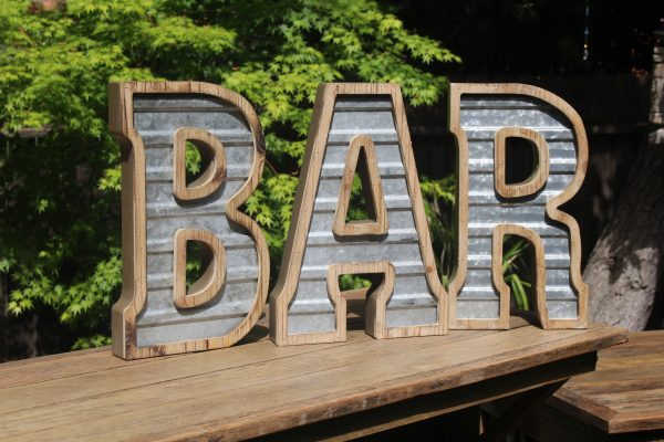 Rustic BAR Sign