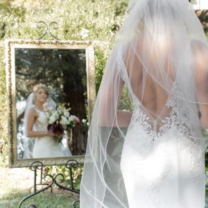 Gold vintage mirror wedding rental