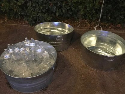 Galvanized metal drink tub buckets