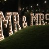 Large marquee MR & MRS sign light up letters wedding backdrope sign marquee letters wedding backdrop