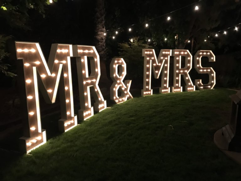 Large Marquee Mr Amp Mrs Sign Light Up Letters Wedding Backdrop
