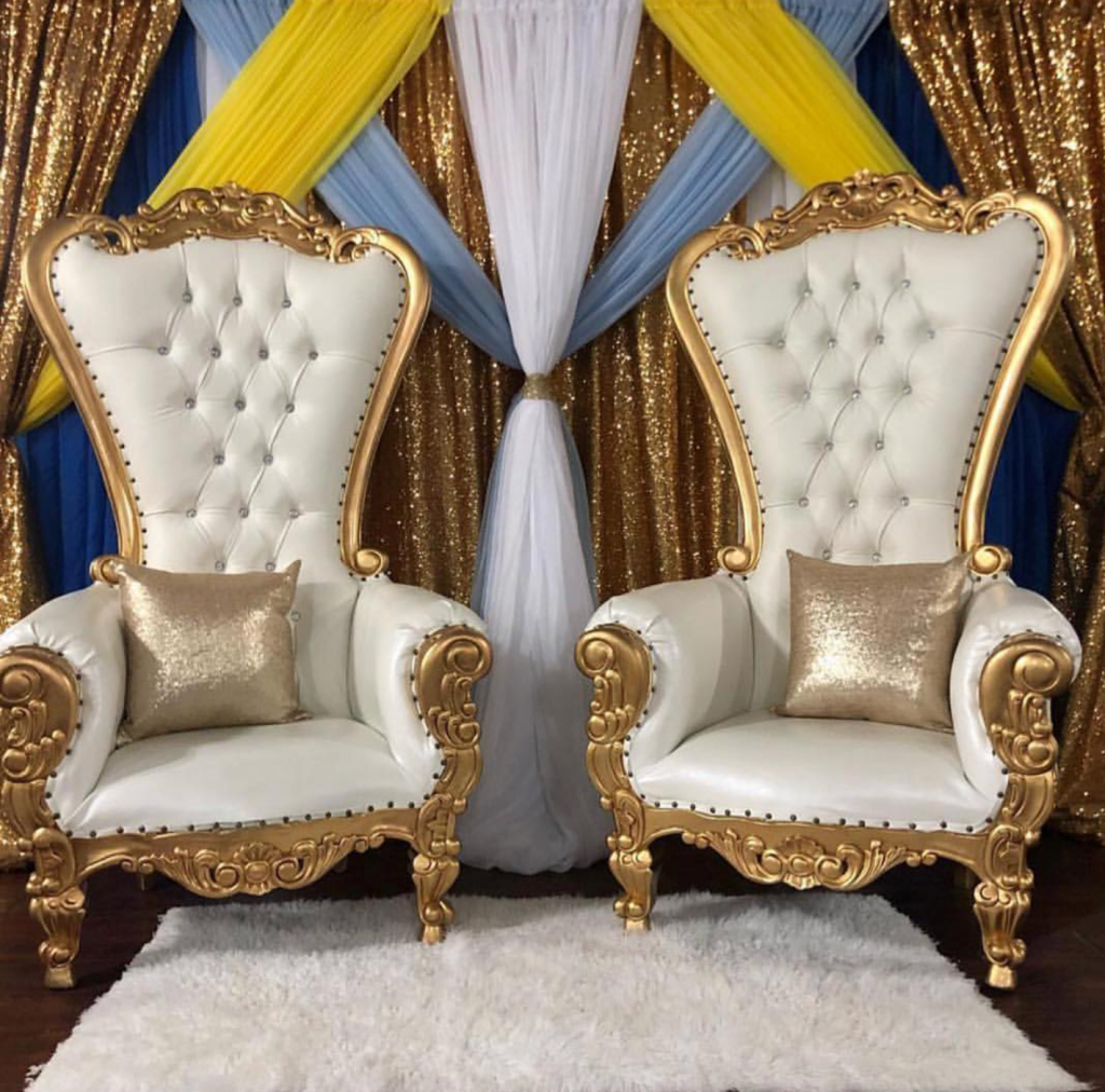 Gold Gold And Ivory Throne Chairs Rental Houston Love Of