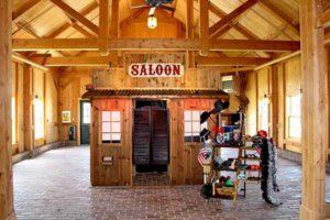 rustic western saloon wedding photo booth rental