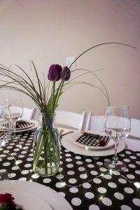 polka dot table decor