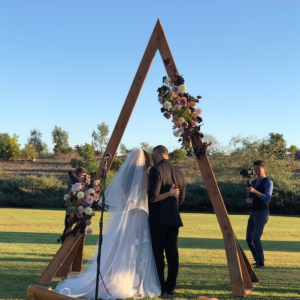 ceremony arch a frame triangular