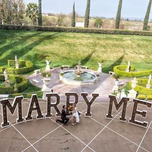Marquee MARRY ME sign