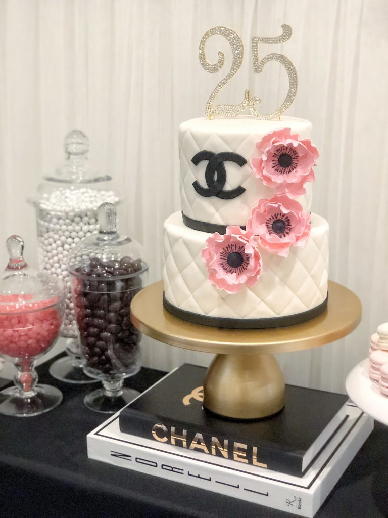 chanel birthday cake, chanel party decoration ideas, chanel party themes,