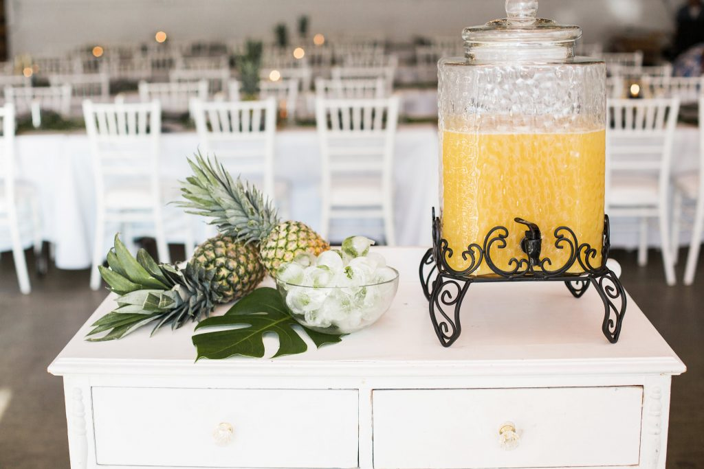 pineapple punch tropical theme 30th birthday chic party ideas table decor modern