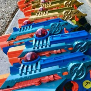 laser tag guns blue yellow