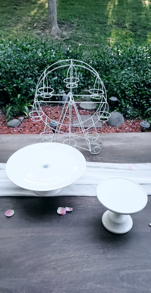 White 6 Quot Inch Cake Stand Eventlyst