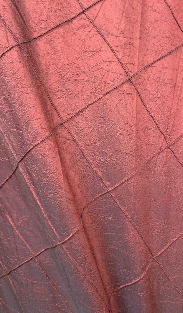 Burgundy Red Pintuck Crush Tablecloth Eventlyst