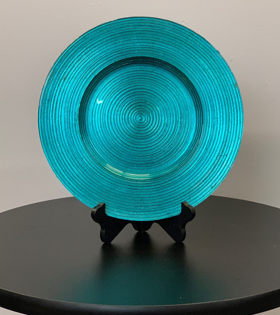 Glass Charger Plate Turquoise Rings Eventlyst