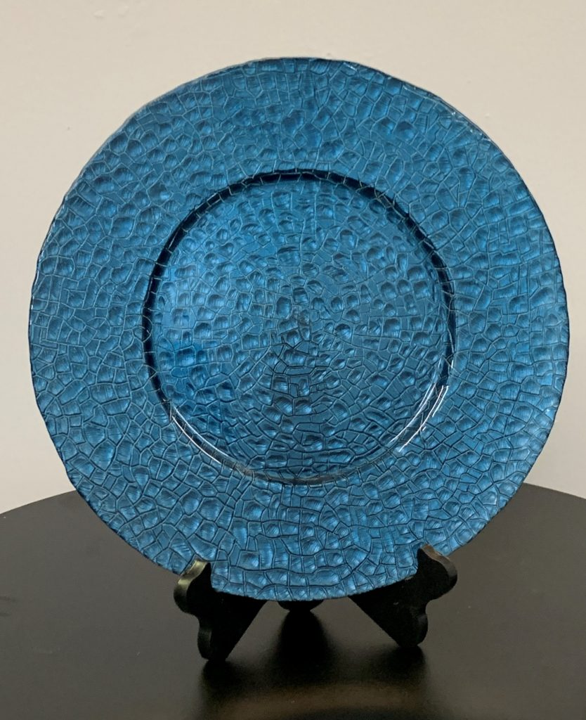 Glass Charger Plate Navy Blue Stone Eventlyst