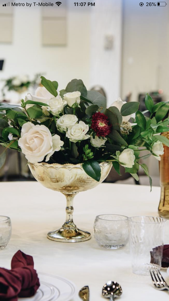 Gold Compote Vase Eventlyst