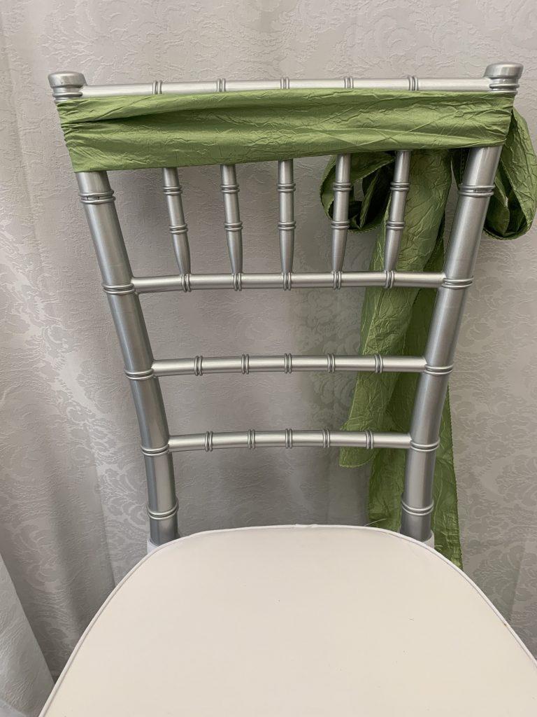 Pear Green Crushed Taffeta Chair Sash Eventlyst