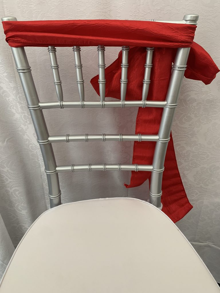 Red Crushed Taffeta Chair Sash Eventlyst
