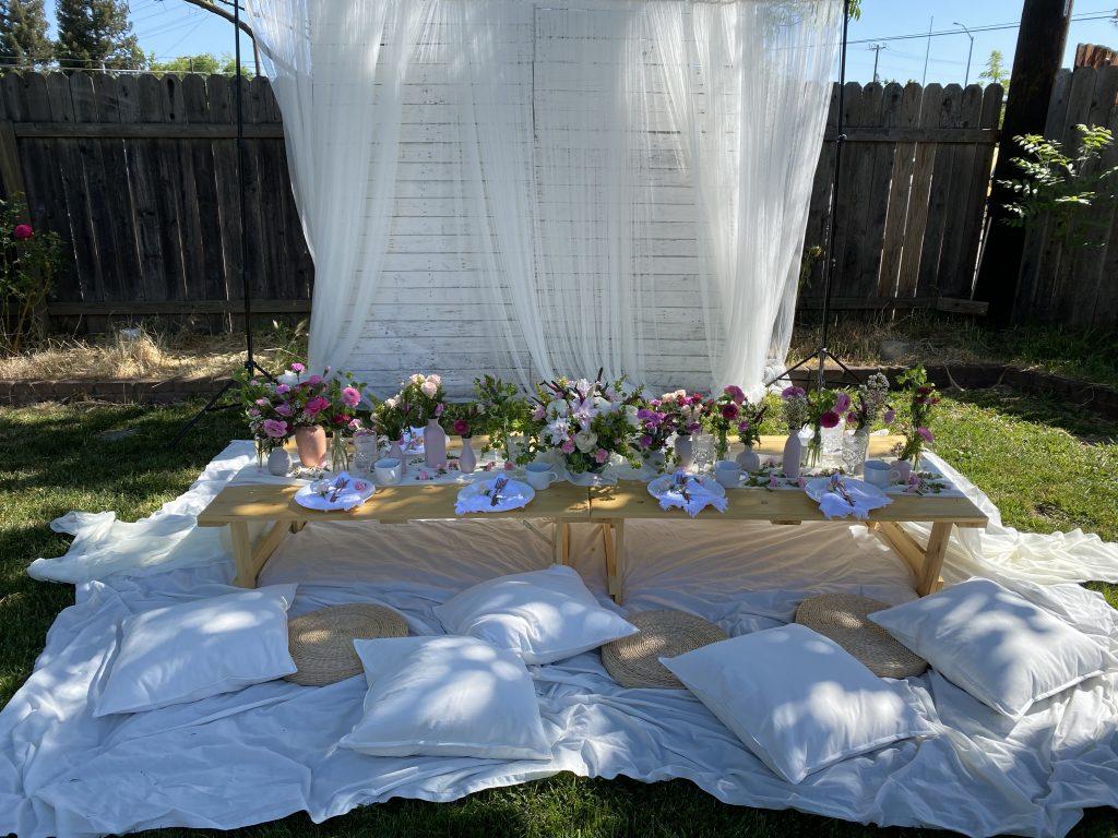 mothers day decor setup
