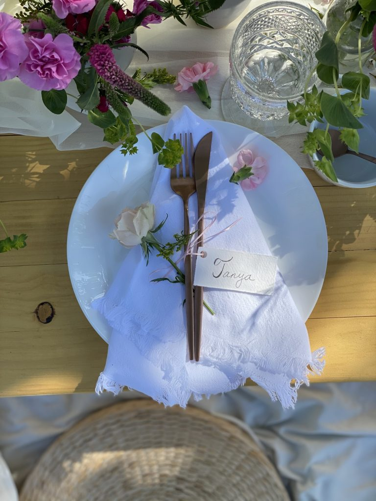 mothers day table place setting decor
